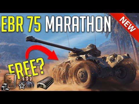 EBR 75 Marathon • Free Premium Tank Grind! ► World of Tanks Panhard EBR 75 Challenge thumbnail