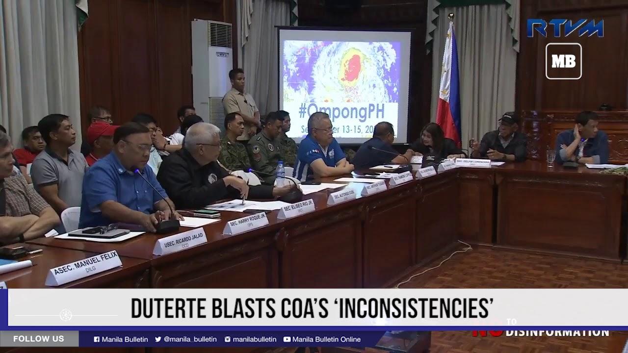 Duterte blasts COA's 'inconsistencies'