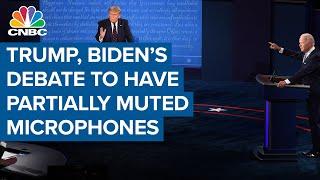 President Donald Trump, Joe Biden's final debate has a new rule—microphones can be muted