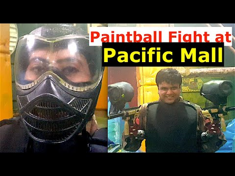 A game of Paintball between Husband and Wife @ Pacific Mall, Subhash Nagar