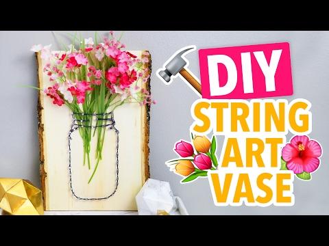 DIY String Art Mason Jar Vases - HGTV Handmade