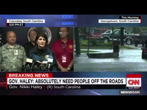 South Carolina Governor Haley on 1000 year rain Event