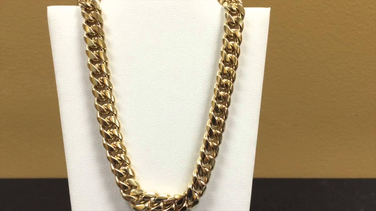 10kt Miami Cuban Link Chain 9 5mm Youtube