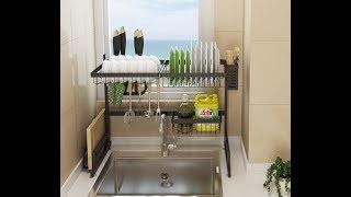 Stainless Steel Drain Rack on Kitchen Sink
