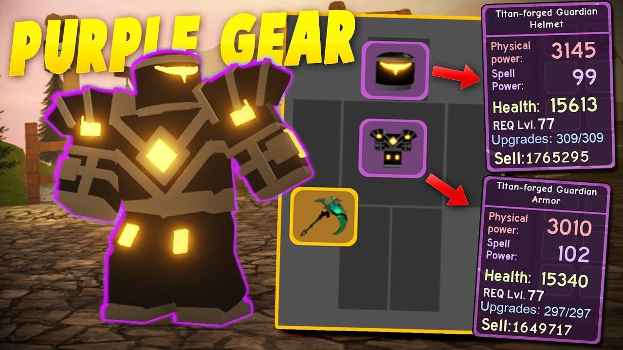 getting full set of purple titan forged guardian armor. Black Bedroom Furniture Sets. Home Design Ideas