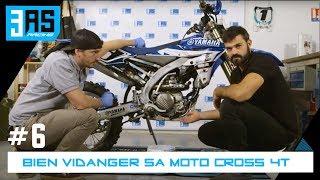 Comment vidanger sa moto cross  4T - Tuto moto #6