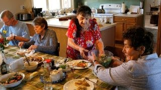 Seniors share house in suburban neighborhood