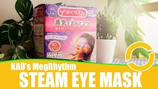 KAO MegRhythm Steam Eye Mask Review