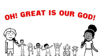 The Sing Team Kids // Oh, Great Is Our God // (Official Lyric Video)