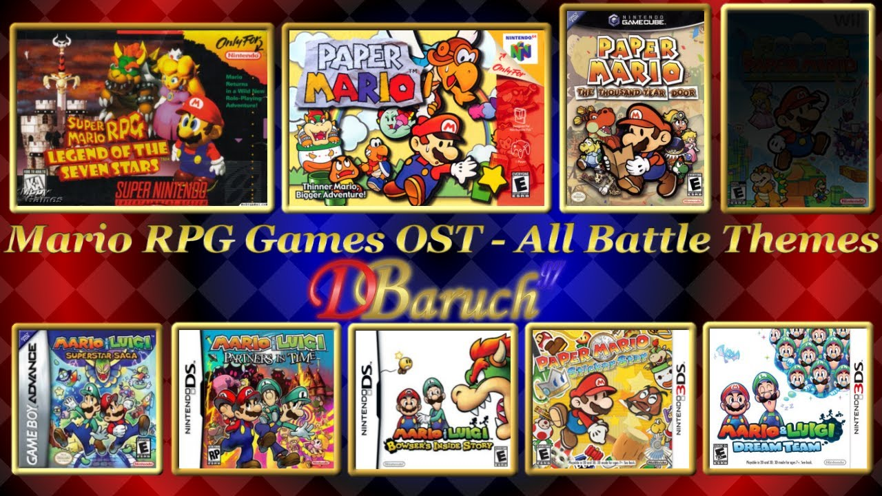 mario rpg games ost all battle themes youtube