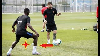 MESSI Destroying DEMBELE in training