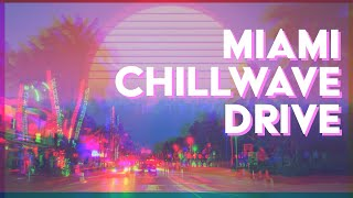 80's RETRO MIAMI BEACH 4K Drive + Synthwave Aesthetic Music (Aesthetic Chillwave Outrun Style)