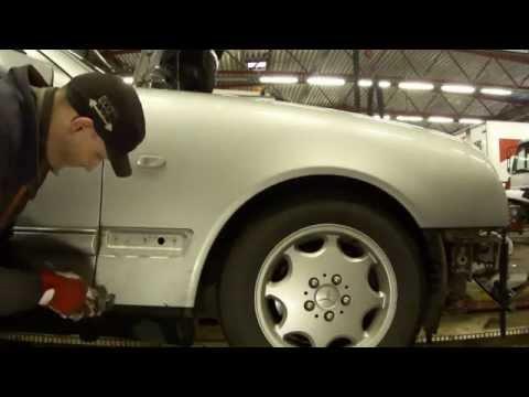 Снятие переднего крыла Mercedes-Benz W210  Front Fender Removal