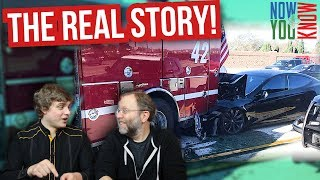 Model S crashes into Firetruck: The real story - In Depth