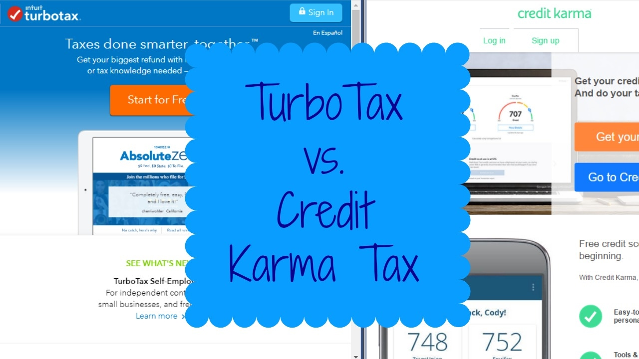 Credit Karma Turbotax Vs Credit Karma Tax Review