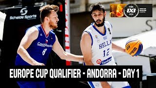 LIVE 🔴 - FIBA 3x3 Europe Cup Qualifier - Andorra 2018 - Day 1