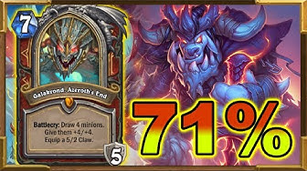 Best Deck In Standard With Over 71% Winrate | Galakrond Warrior | New Ranking System | Hearthstone
