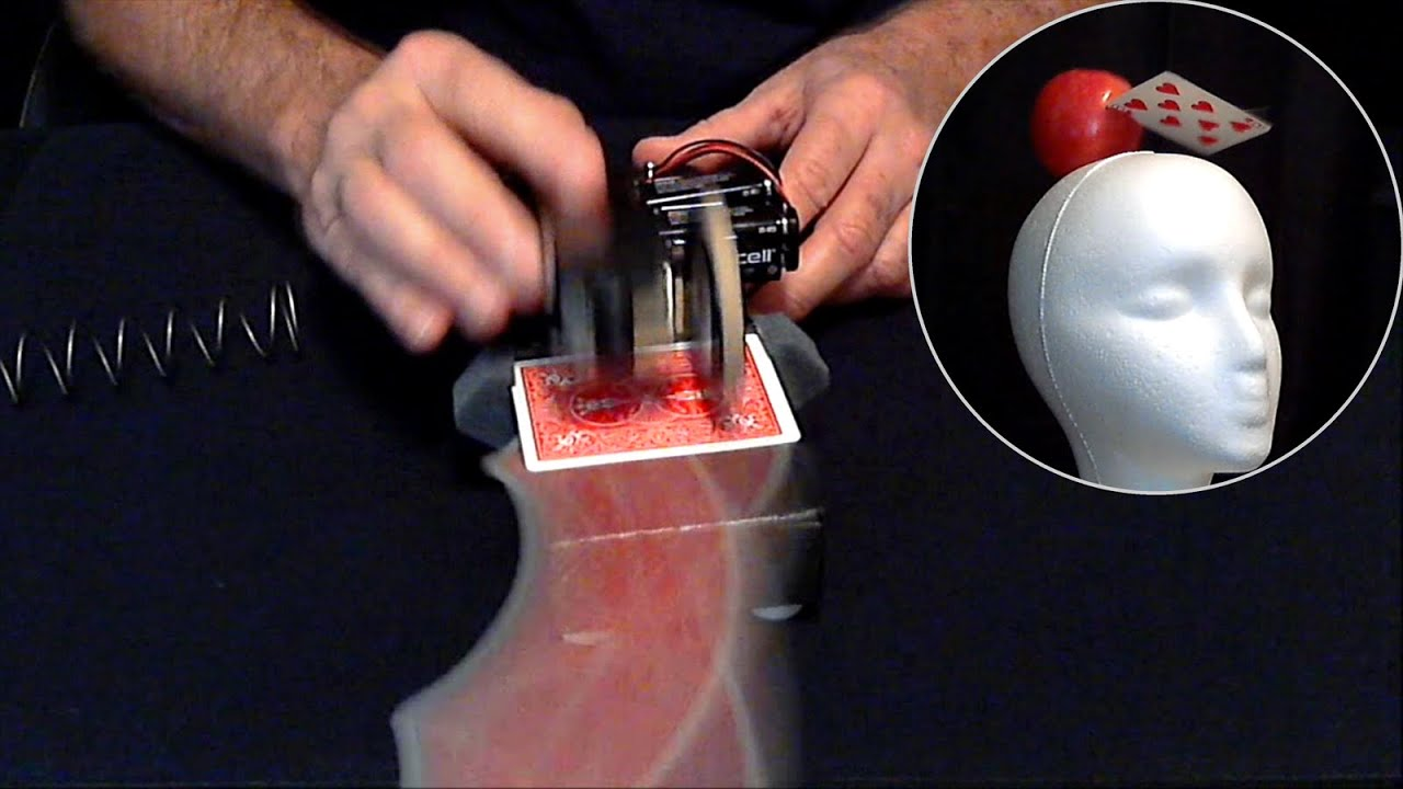 Extreme card throwing machine card launcher youtube reheart Image collections