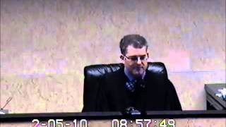 judge hathaway lied in a written court order...