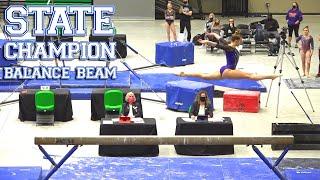 Whitney Bjerken | Level 10 State Meet | State Champion on Balance Beam!