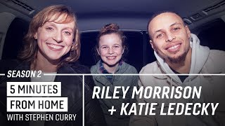 Stephen Curry Tells His Best Dad Joke to Riley Morrison and Katie Ledecky | 5 Minutes from Home