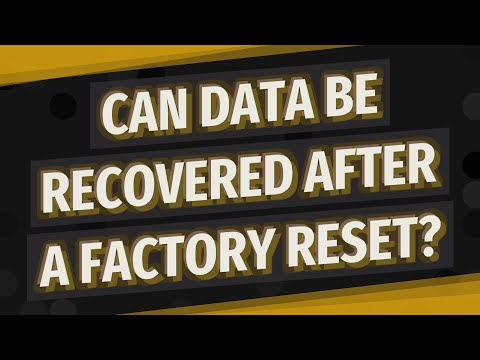 Can Data Be Recovered After A Factory Reset?