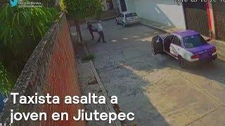Mujer es asaltada por un taxista en Jiutepec, Morelos - Las Noticias con Danielle