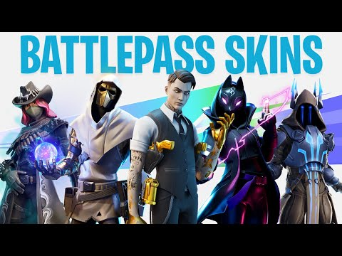 FORTNITE ALL SEASON BATTLEPASS SKINS (All 12 Season Battlepass Skins)