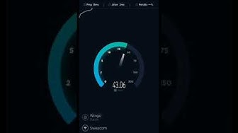 Speed Test ADSL Swisscom with internet-Booster