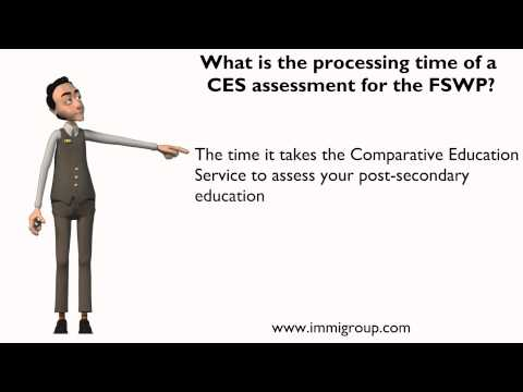 What is the processing time of a CES assessment for the FSWP
