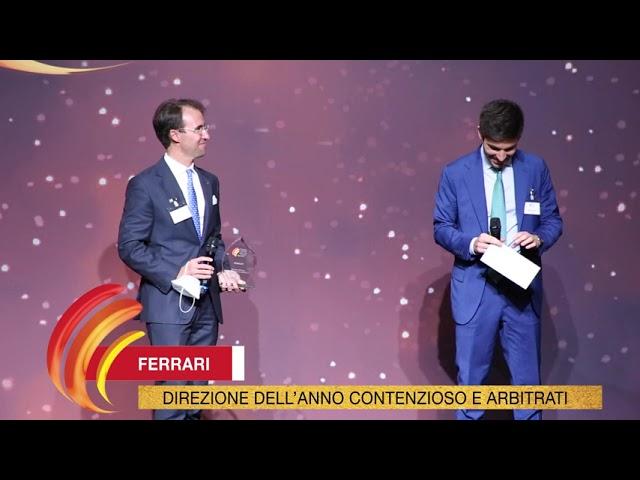 Ferrari - TopLegal Corporate Counsel & Finance Awards 2021
