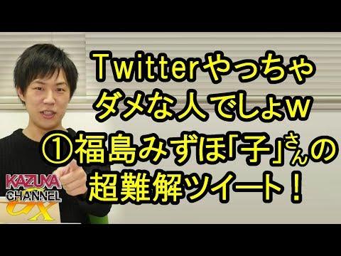これはTwitterやっちゃダメな人でしょw①福島瑞穂さんの超難解ツイート!