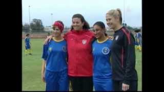 Al Aoula (Moroccan Channel 1) Coverage of U.S. Women's Soccer Sports Envoys