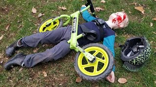 Epic Bike Crash - Tommy's balance bike FAIL! thumbnail