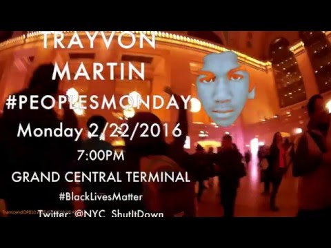 Peoples Monday / NYCShutItDown March in Solidarity for Trayvon Martin in NYC