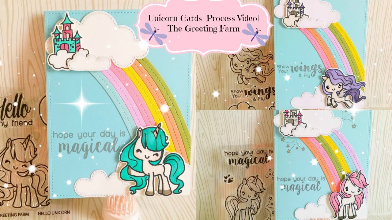 Unicorn Cards Process Video The Greeting Farm Stamps Youtube