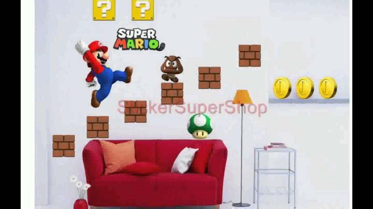 Super Mario Bros Wall Decals - YouTube