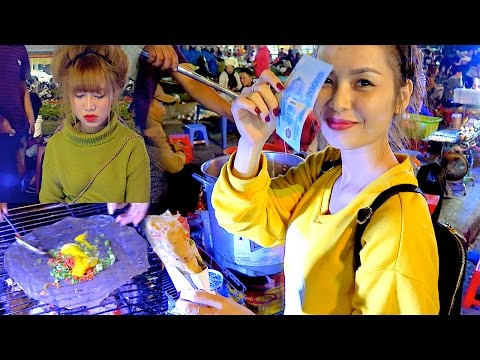 Thumbnail: Vietnam Street Food - Traditional Vietnamese Egg Pizza with Beautiful Vietnamese Girls ❤️
