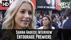 Sabina Gadecki Interview - Entourage Premiere