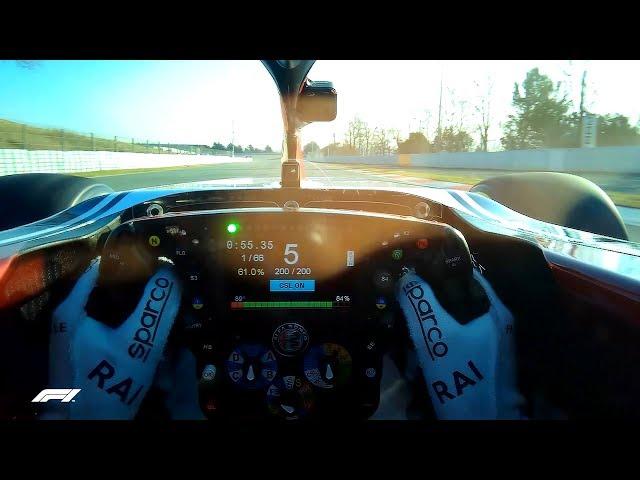 Kimi Raikkonen Mode! (Visor Cam) | F1 Testing 2019