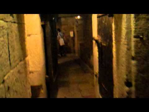 inside the prison of doges palace, venice italy
