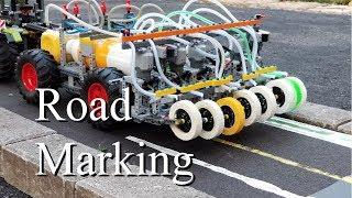 Road Marking Machine - Lego Technic 42054 Claas Xerion 5000 Trac VC