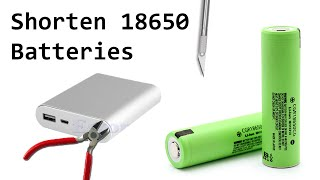 How To: Shorten 18650 Lithium Cells for Standard Holders by Removing Protection Circuitry