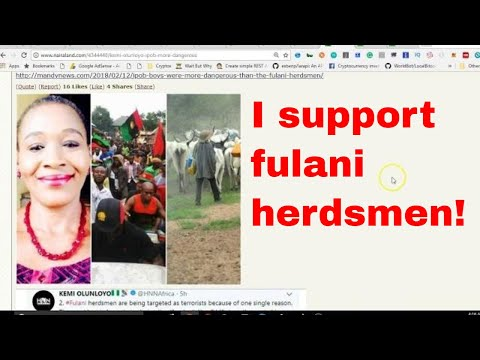"""""""IPOB more dangerous than fulani herdsmen"""" - Kemi Olunloyo"""