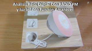 Reloj Despertador Mospro con Radio FM y simulacion de AMANECER / ANOCHECER