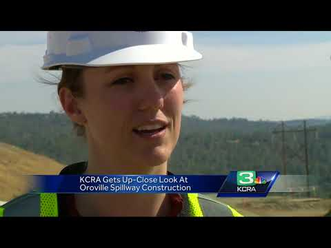 Get a close-up look of the Oroville Dam spillway's progress