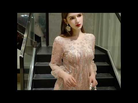 Золотое вечернее платье. Вечернее платье ручной работы