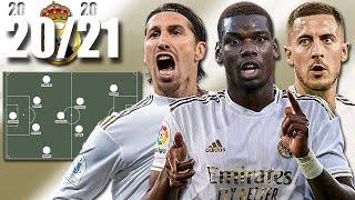 LE 11 POTENTIEL DU REAL MADRID POUR LA SAISON 2020 2021 Pogba Benzema Hazard