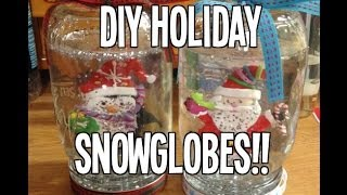 ❄ DIY Holiday Snow Globes!!! ❄ Thumbnail