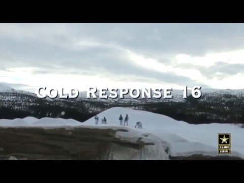 Cold Response 16 - U.S. Army Europe - quadcopter footage